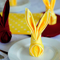 no easter table is complete without a napkin easter bunny!